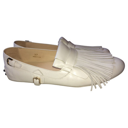 Tod's White loafers with tassels