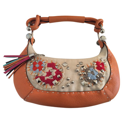 BCBG Max Azria Colorful bag with embroidery and studs
