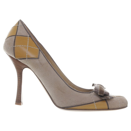 Valentino Suede leather pumps with diamond pattern