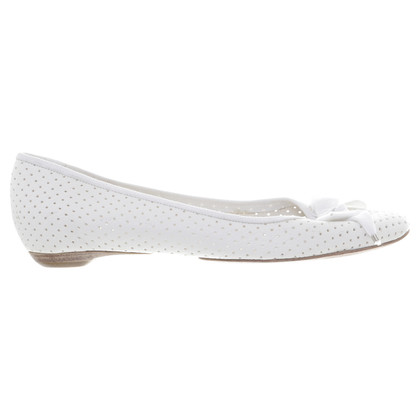 Chloé White ballerinas with loop