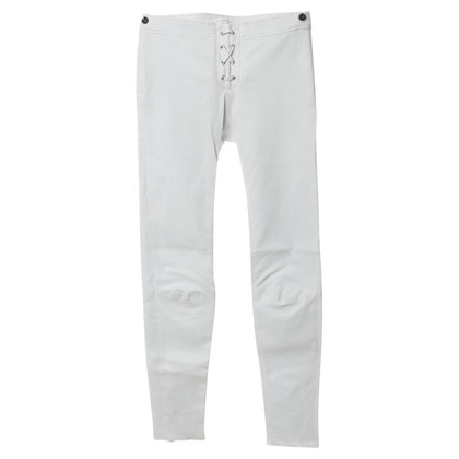 Faith Connexion Lederhose in Off-White