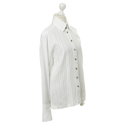 Escada Cotton blouse with pin-stripe