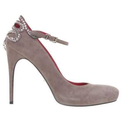 Cesare Paciotti Mary Janes with Swarovski crystals