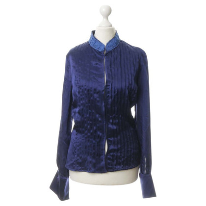 Versace Silk blouse with lace trim