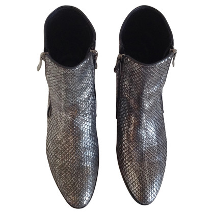 Barbara Bui  Python leather silver boots