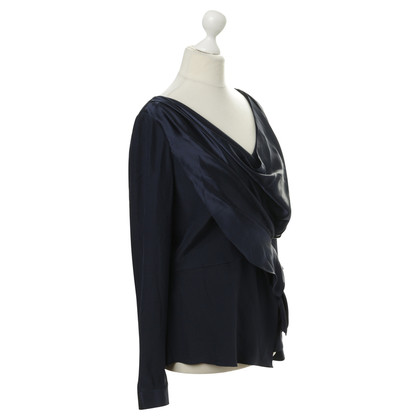 Oscar de la Renta Draped blouse silk