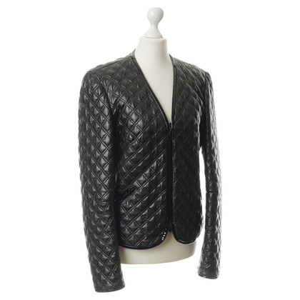 Alexander McQueen Leather jacket in quilted look