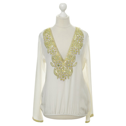 Other Designer TAJ - silk top with beading