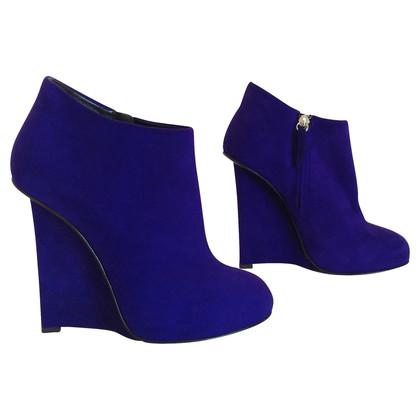 Giuseppe Zanotti purple ankle boots
