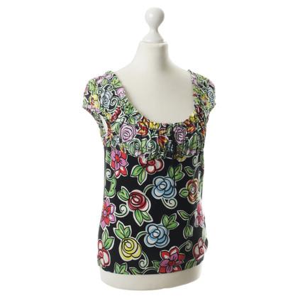 Blumarine Top with flower pattern