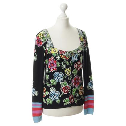 Blumarine Cardigan with floral motif