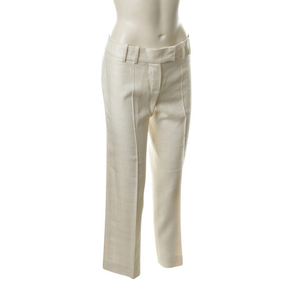 Chloé Pantaloni in cotone color crema