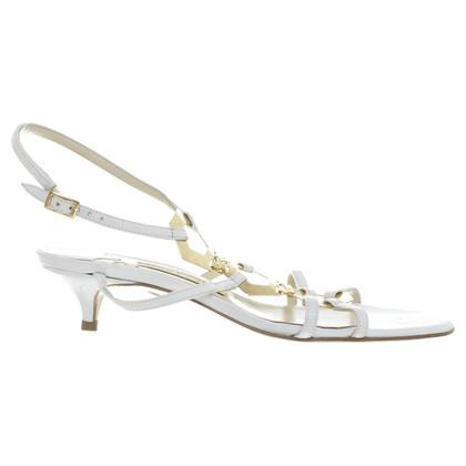 Jimmy Choo White kitten heels