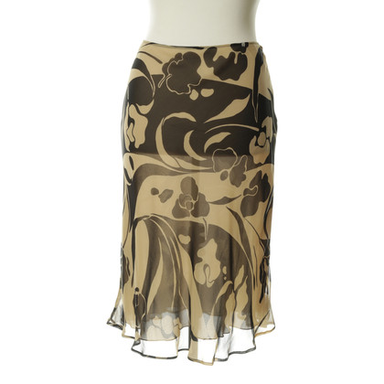 Aigner Patterned silk skirt
