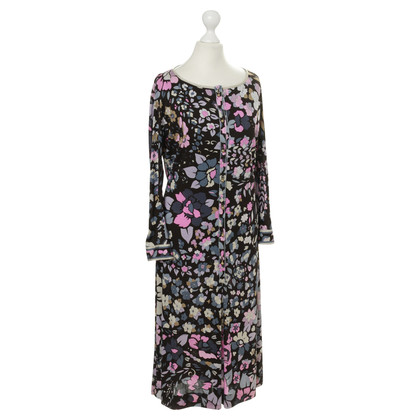 Leonard Silk dress with floral print