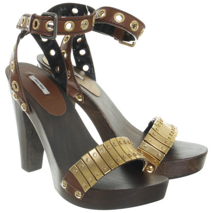 Miu Miu Sandals with wooden sole
