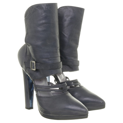 Gianni Versace Blue-gray ankle boots