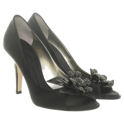 Giuseppe Zanotti Peep-toes with jewel trim in black