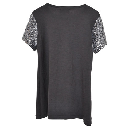 Elizabeth & James paillettes grigio T-shirt