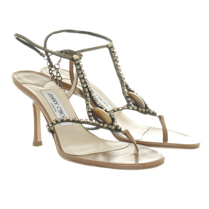 Jimmy Choo Sandals with Tiger's eye