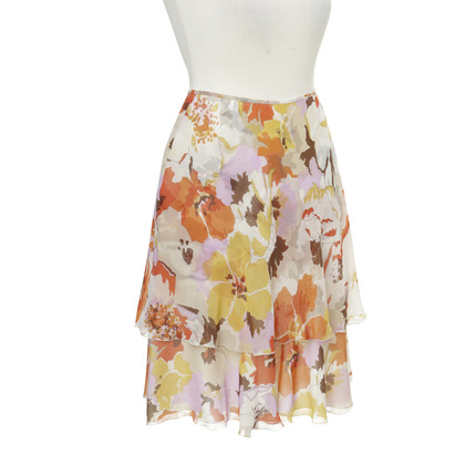 Valentino Silk skirt with flower print