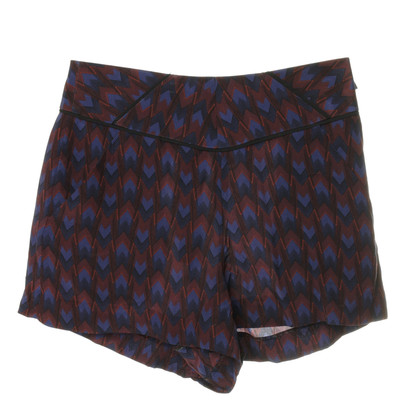 Maje Shorts in seta con etno-touch