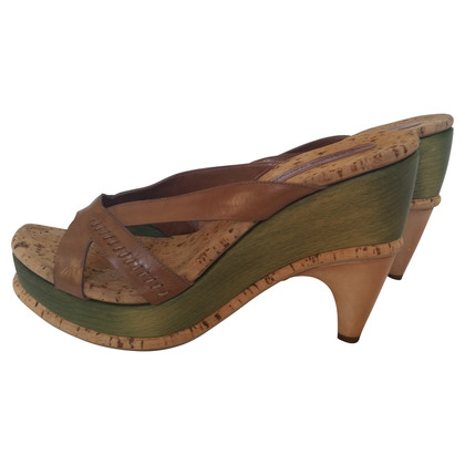 Costume National High heel sandal with wood heel