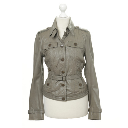 Drykorn Grey leather jacket