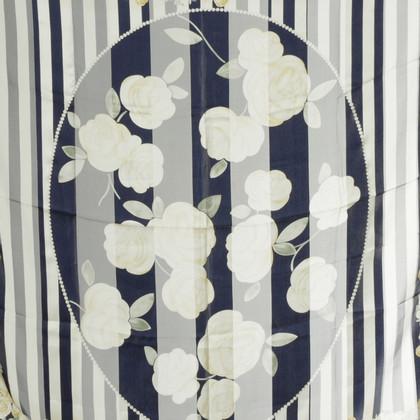 Christian Dior Zijden doek met roos motief
