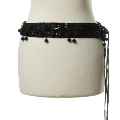 Steffen Schraut Belt with sequin trim