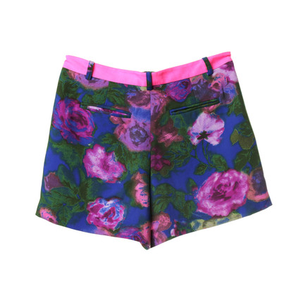 Sandro Shorts with print and neon-tie