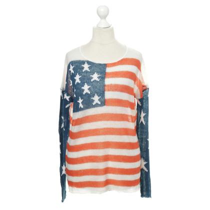 Wildfox Pullover mit US-Flaggenmotiv