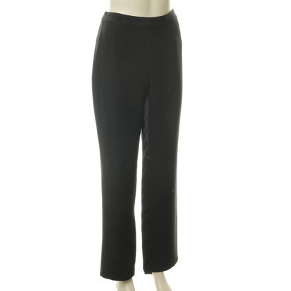 Akris Black silk trousers