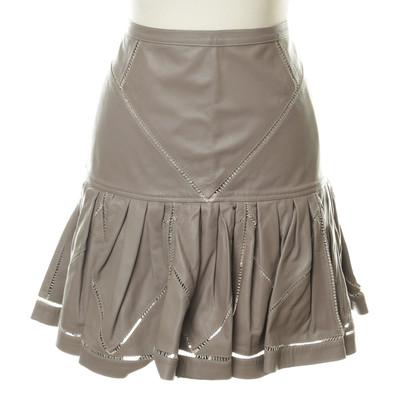 Roberto Cavalli Taupe leather skirt