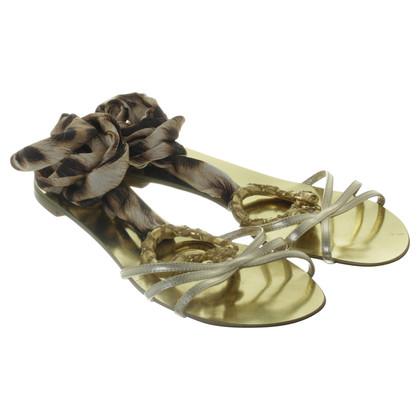 Roberto Cavalli Gold sandals