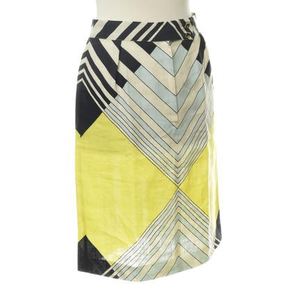 Missoni Linen skirt with graphical pattern