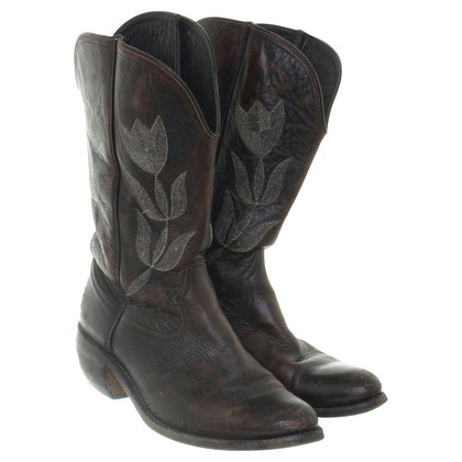 Golden Goose Cowboy boots with Tulip embroidery