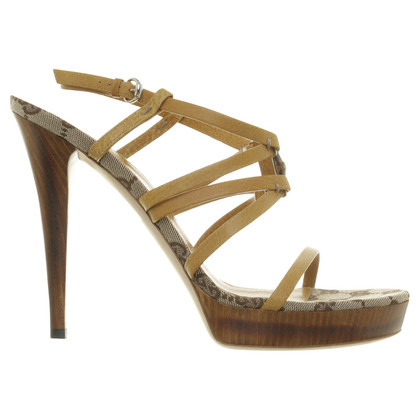Gucci Strappy heels with bamboo detail