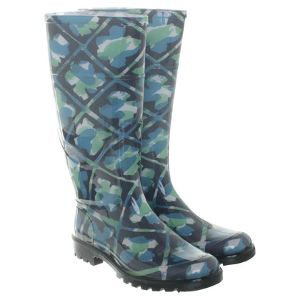 Burberry Stivali di gomma in blu e verde