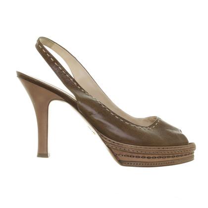 Prada Sling peep-toes in Brown