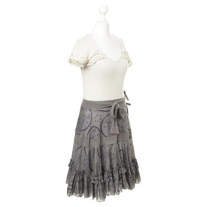 Odd Molly Kleid mit Muster, Rüschen und Häkelspitze