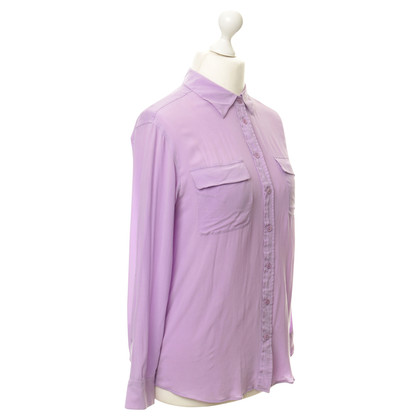 Equipment Blusa in seta viola