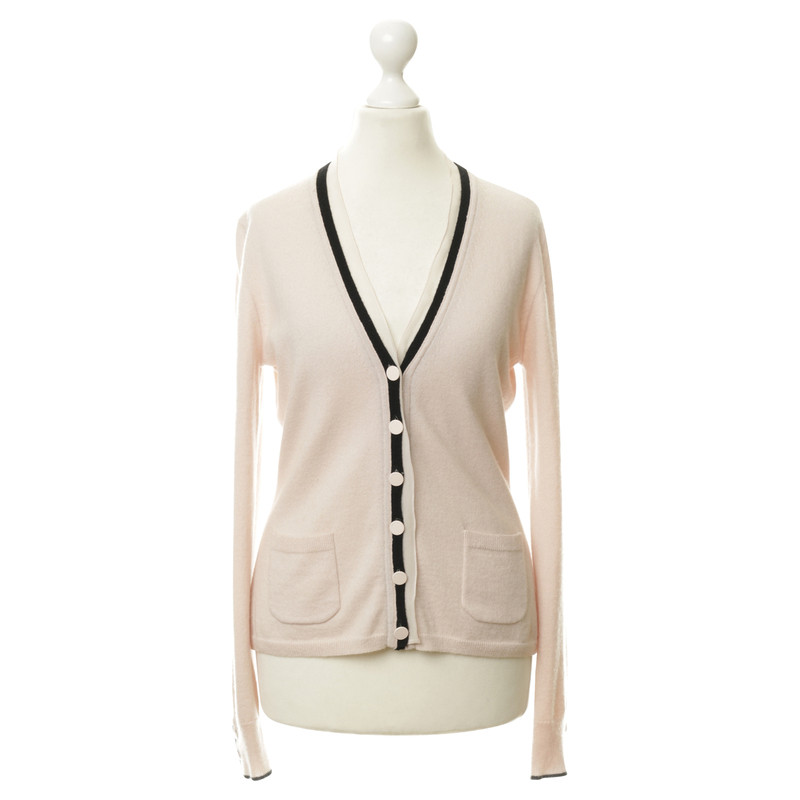 Rena Lange Cardigan in cashmere with chiffon trim