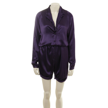 Hussein Chalayan Satin jumpsuit in purple