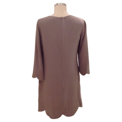 Chloé zijden jurk in Taupe