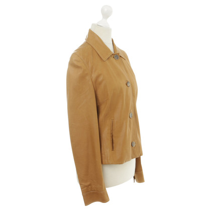 René Lezard Leather jacket in Brown