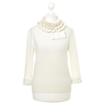 Anna Molinari Sweater with ruffle collar