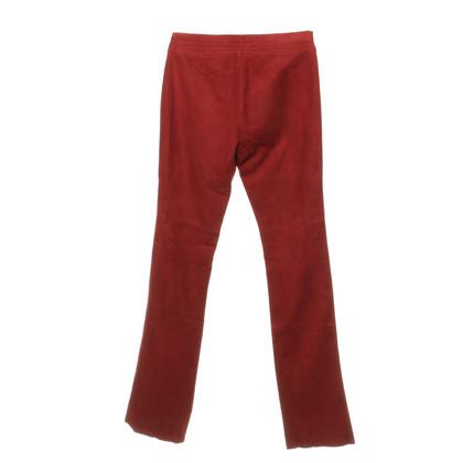 Ralph Lauren Suede pants in red