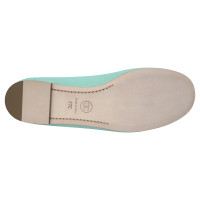 Chanel Ballerinas in turquoise Green