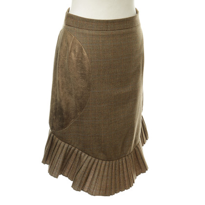 Zac Posen Brown Tweed rok